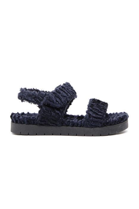 Sandalo effetto astrakan Diffusione Tessile