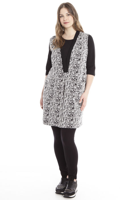 Gilet lungo in jersey jacquard Diffusione Tessile