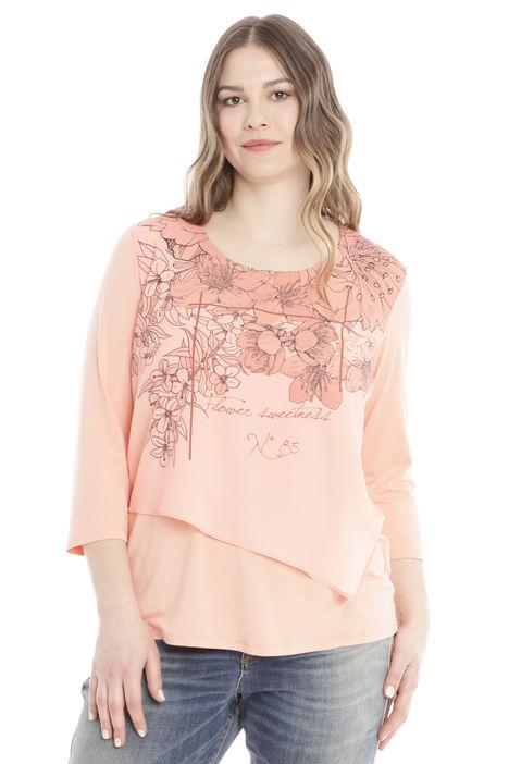 T-shirt con taglio diagonale Diffusione Tessile