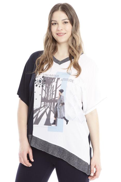 T-shirt asimmetrica Diffusione Tessile