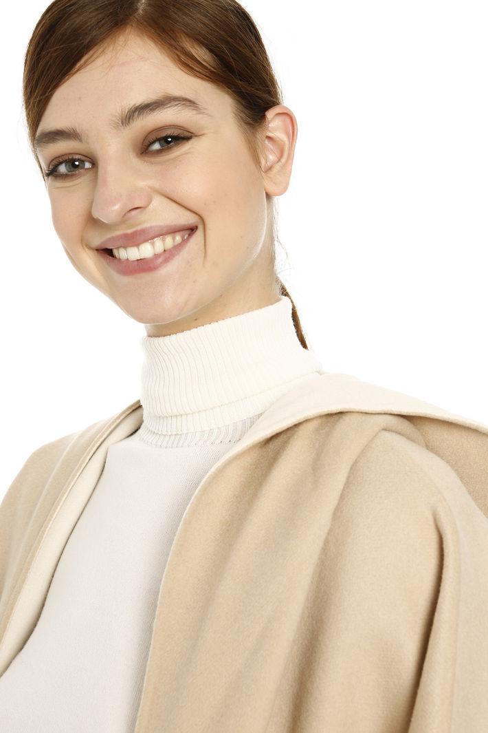 Maxi poncho in lana Diffusione Tessile