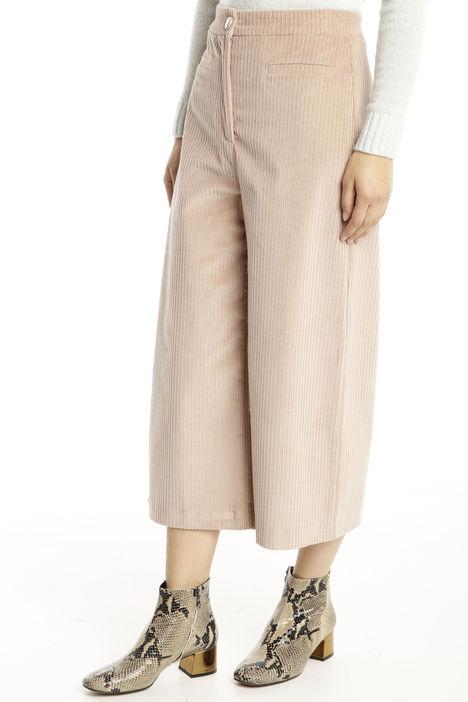 Pantalone cropped a coste Diffusione Tessile