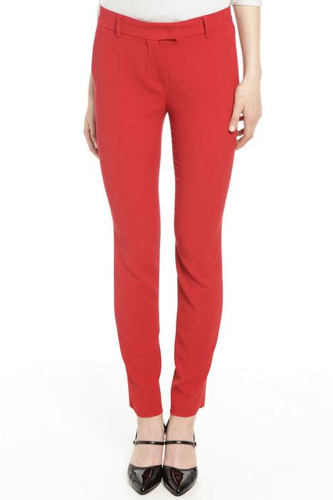 Pantaloni in diagonale di lana Intrend