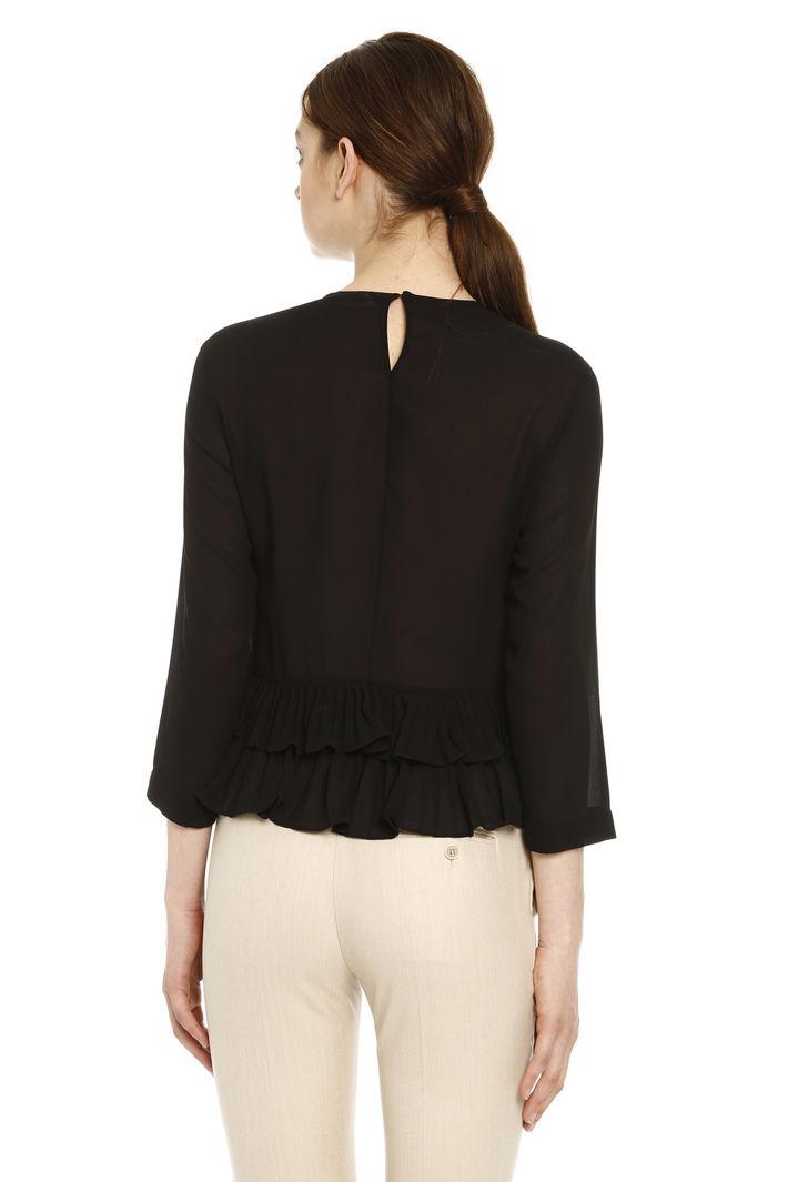 Blusa con fondo plissé Diffusione Tessile