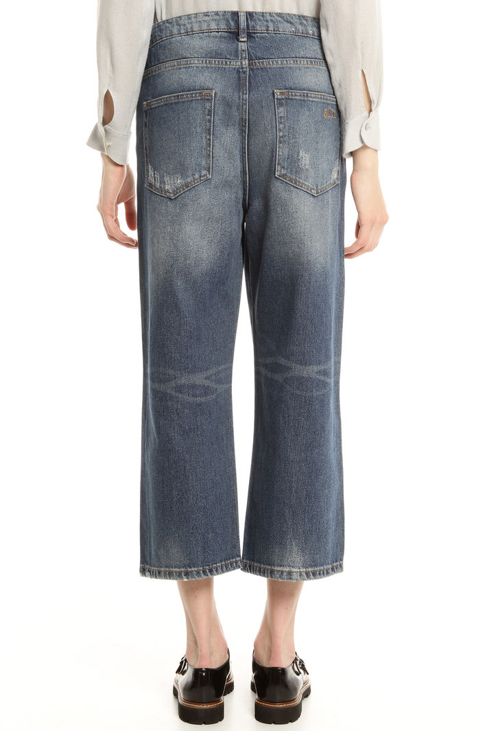 Jeans cropped in denim Diffusione Tessile