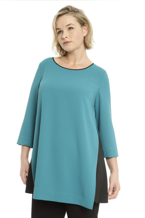 Blusa in crepe con spacchi Intrend