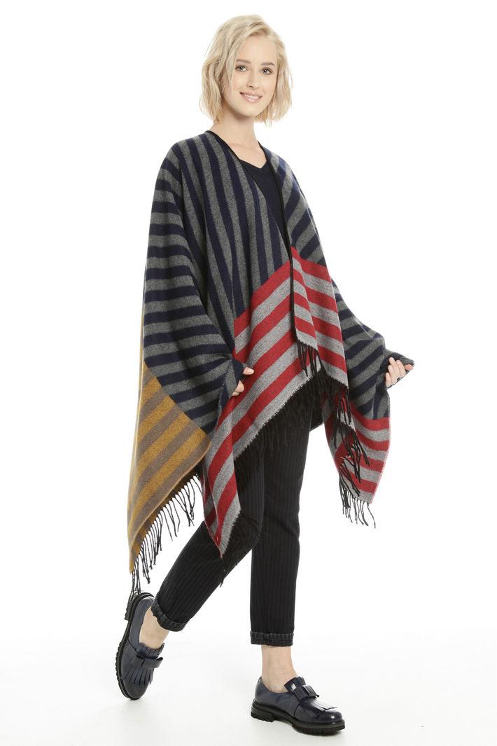 Poncho over con frange Fashion Market