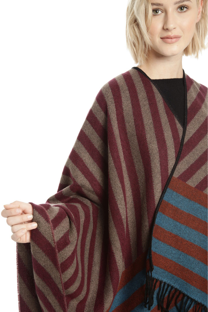 Poncho over con frange Fashion Market