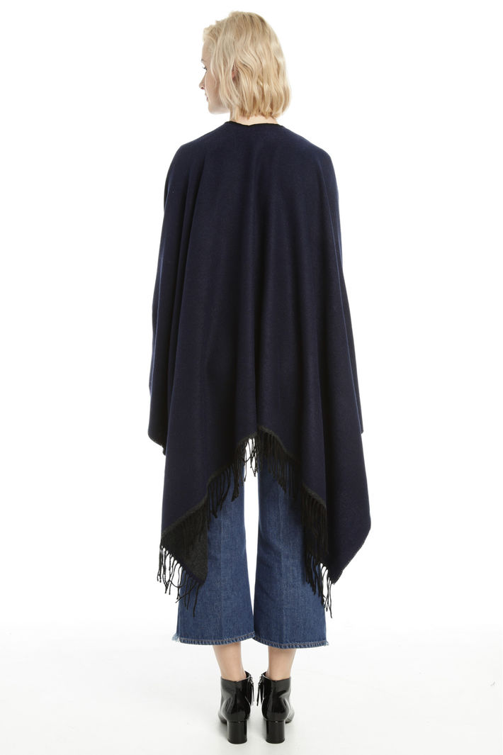 Poncho con cinturino in pelle Fashion Market