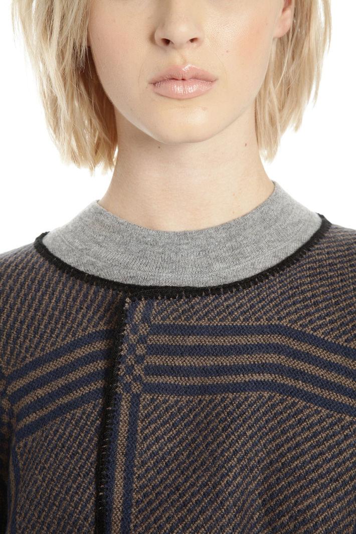 Poncho con maniche corte Fashion Market