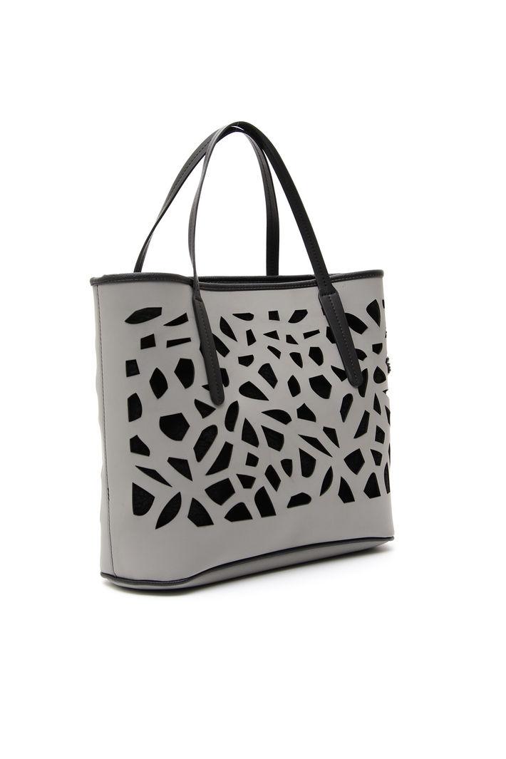 Shopping bag con intarsi Diffusione Tessile
