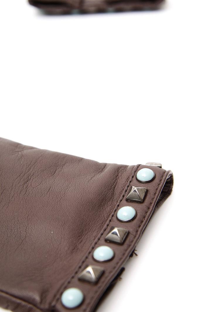 Guanti in pelle con borchie Fashion Market
