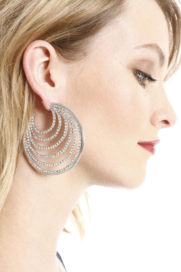 Orecchini circolari con pietre Fashion Market