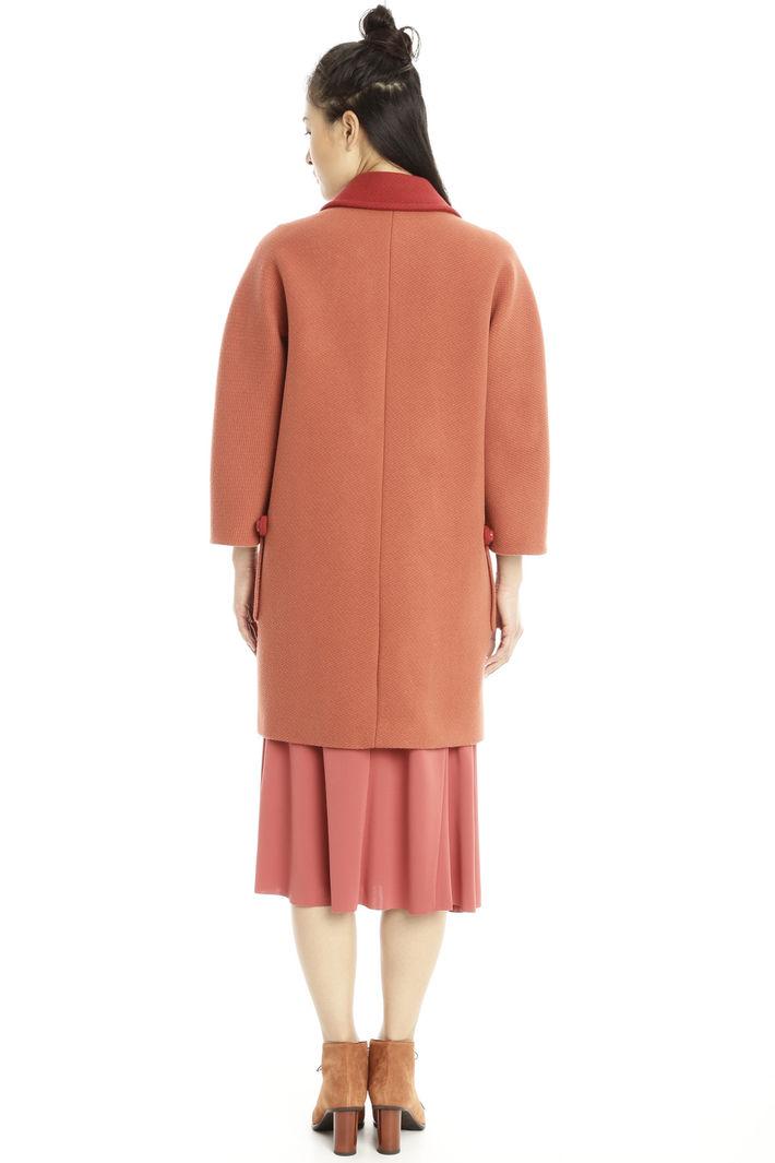 Cappotto in diagonale di lana Diffusione Tessile