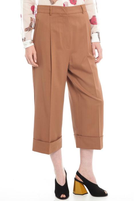 Pantaloni cropped in lana Diffusione Tessile
