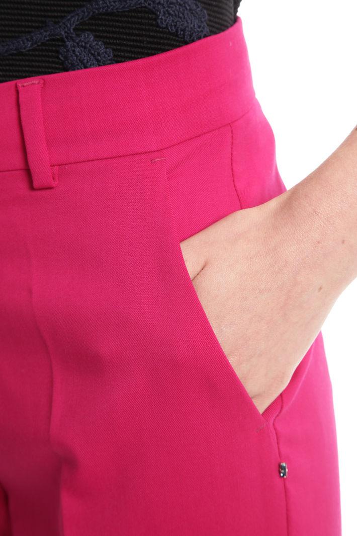 Pantalone in diagonale di lana Diffusione Tessile