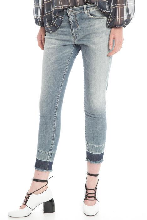 Jeans con fondo a contrasto Diffusione Tessile