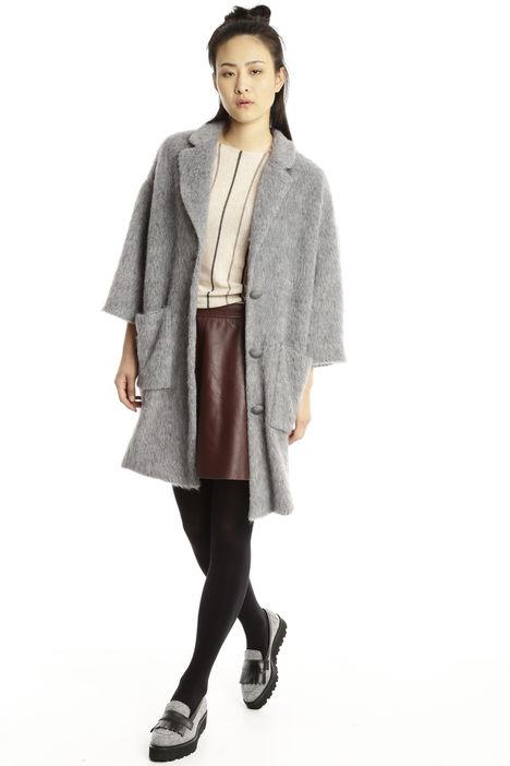Cappotto in lana misto mohair Diffusione Tessile
