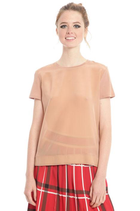 T-shirt in cotone e seta Diffusione Tessile