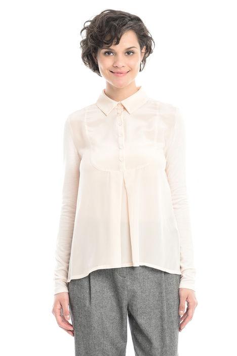 T-shirt con carrè in seta Diffusione Tessile