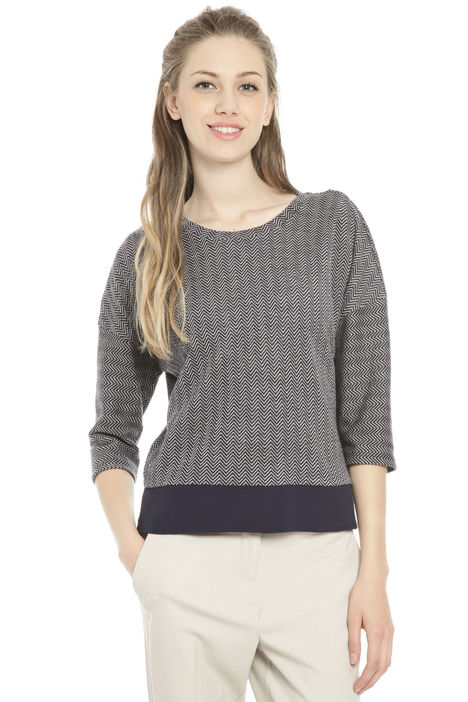 Top in jersey jacquard Diffusione Tessile
