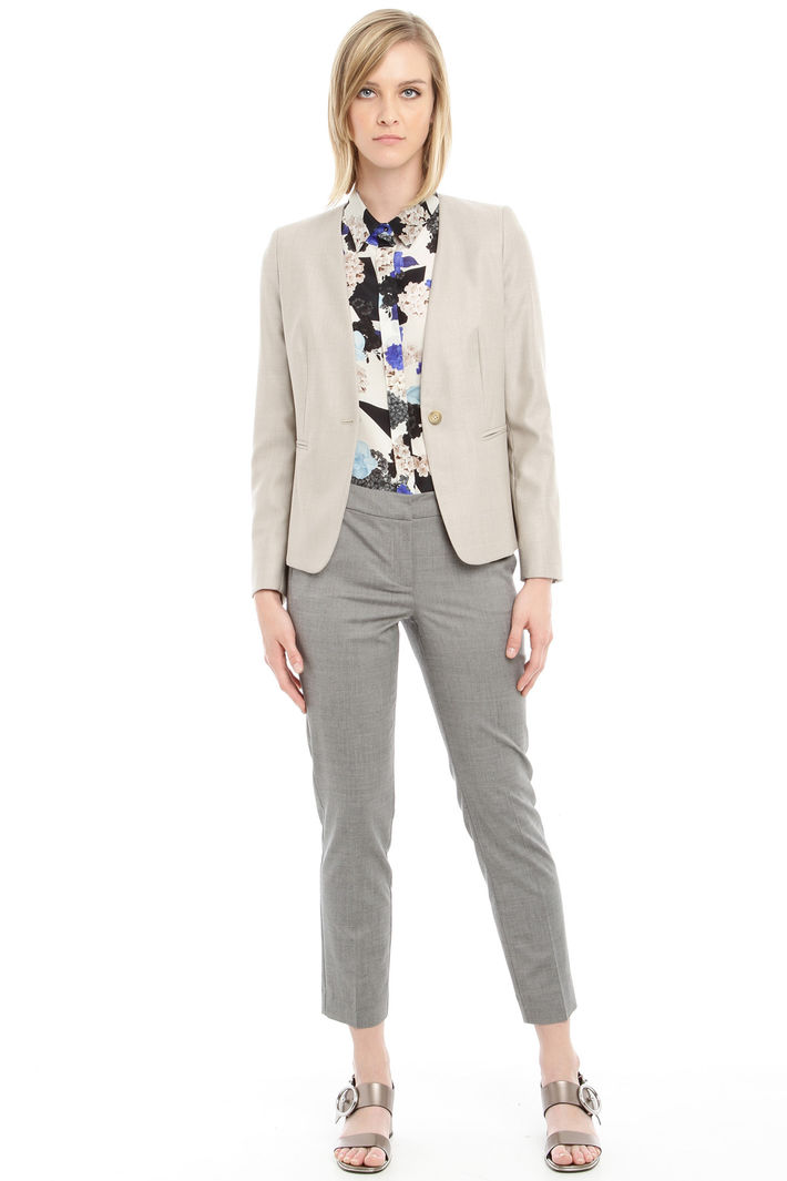 Blazer in lana e seta Fashion Market