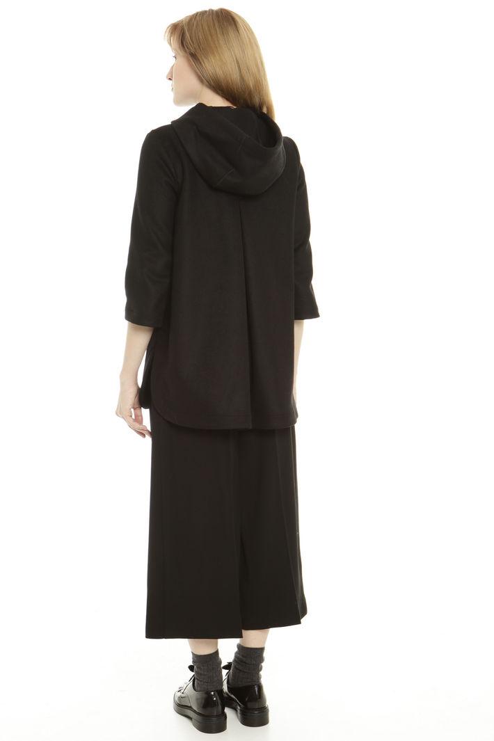 Giaccone in lana con spacchi Fashion Market