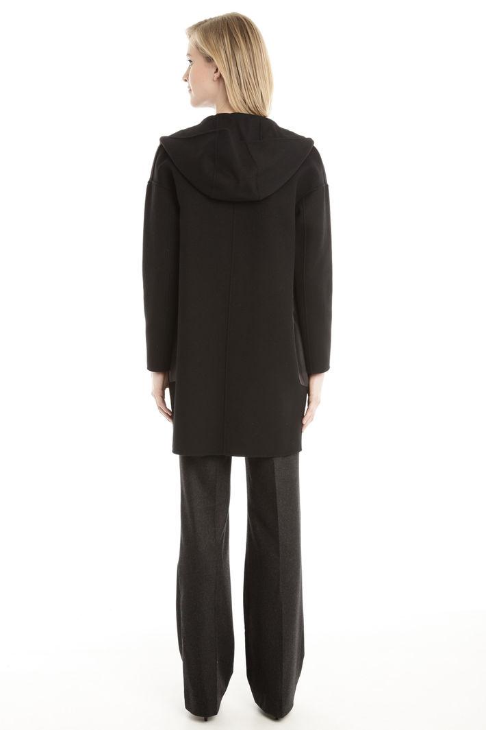 Cappotto con tasche in pelle Fashion Market