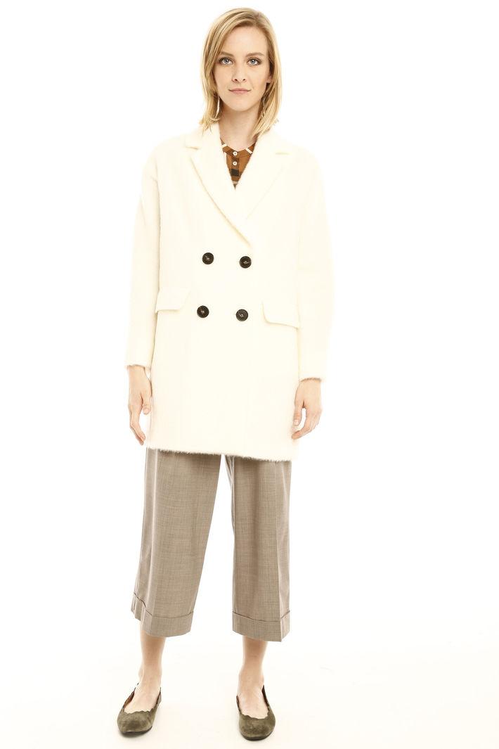 Cappotto doppiopetto in mohair Fashion Market