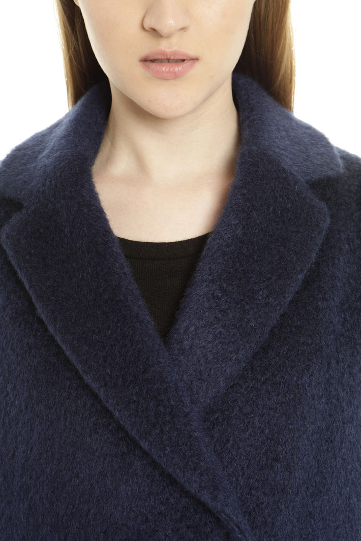 Cappotto doppiopetto in mohair Fashion Market
