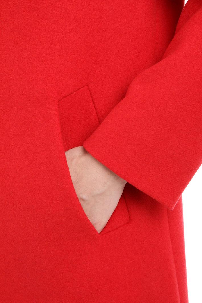 Cappotto monopetto in lana Fashion Market