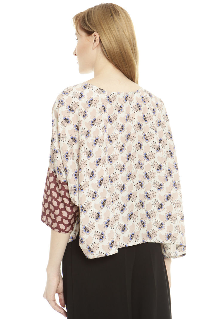 Blusa boxy in pura seta Fashion Market