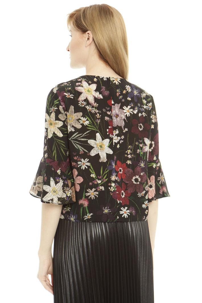 Blusa boxy a fiori Diffusione Tessile