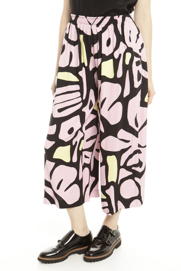 Pantaloni cropped in sablè Fashion Market