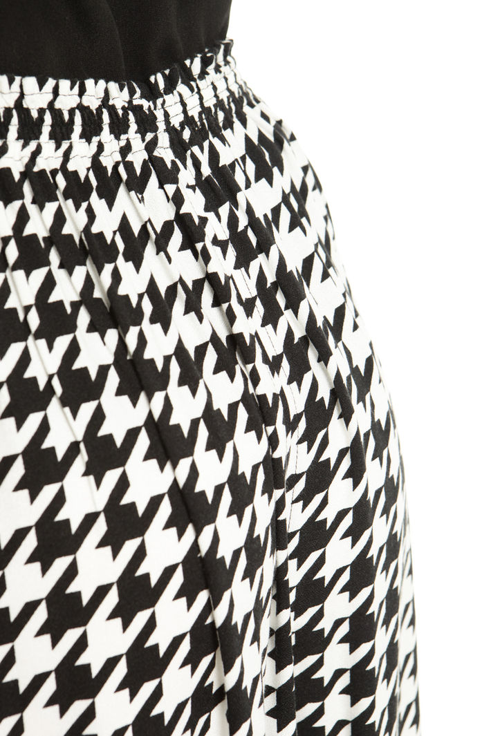 Pantaloni cropped in sablè Fashion Market