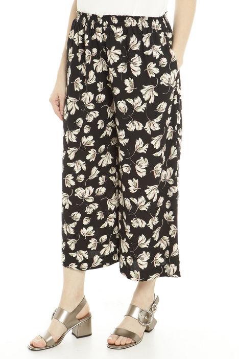 Pantaloni cropped in sablè Diffusione Tessile