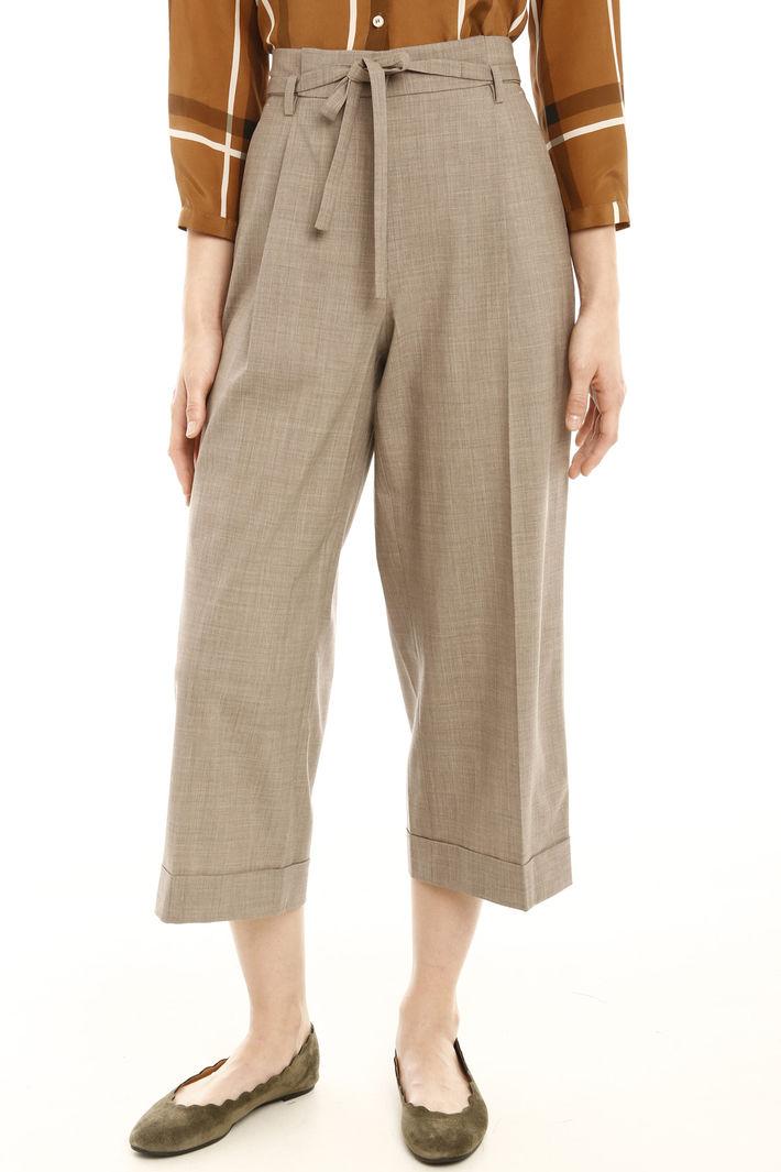 Pantaloni cropped con cintura Fashion Market