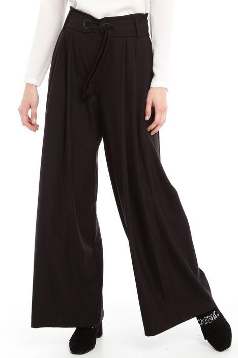 Pantalone palazzo in sablè Diffusione Tessile