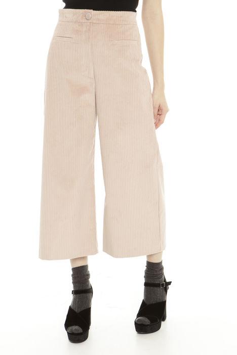 Pantalone cropped stretch a coste Diffusione Tessile