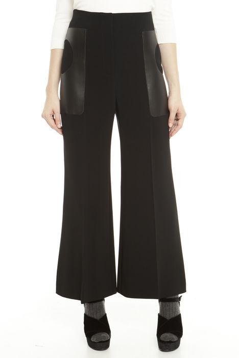 Pantaloni cropped con tasche fantasia Diffusione Tessile