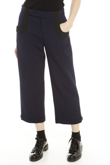 Pantaloni cropped con bottoni Diffusione Tessile