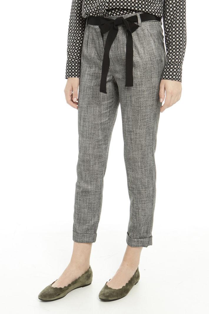 Pantaloni con cintura abbinata Fashion Market