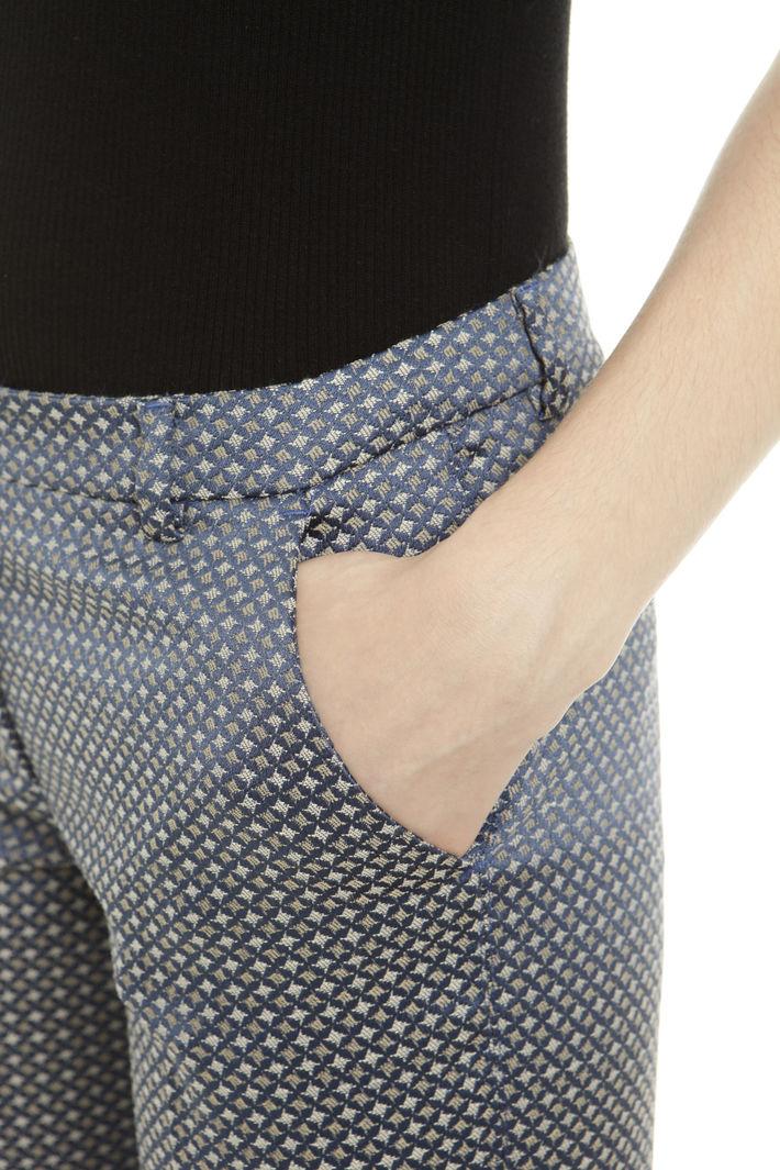Pantaloni jacquard slim Fashion Market