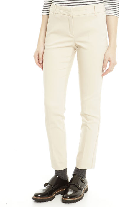 Pantaloni in raso di cotone Diffusione Tessile