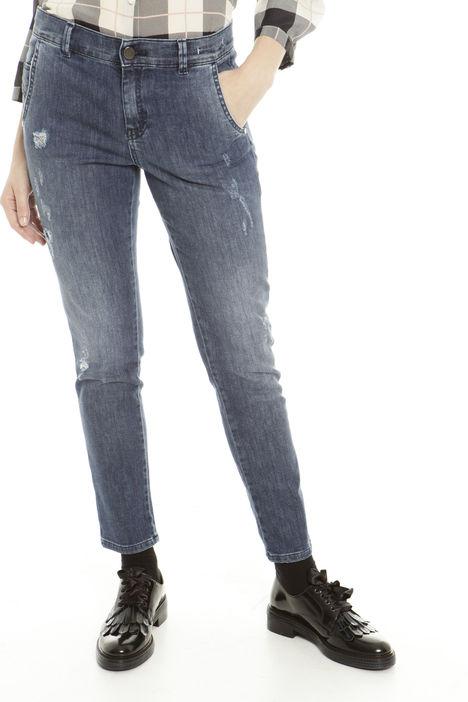 Jeans con rovinatura Intrend