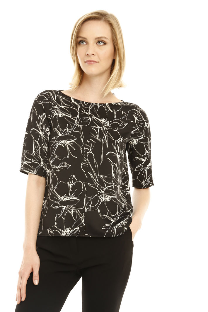 Blusa stampata in crepe Fashion Market