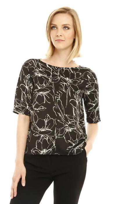 Blusa stampata in crepe Diffusione Tessile