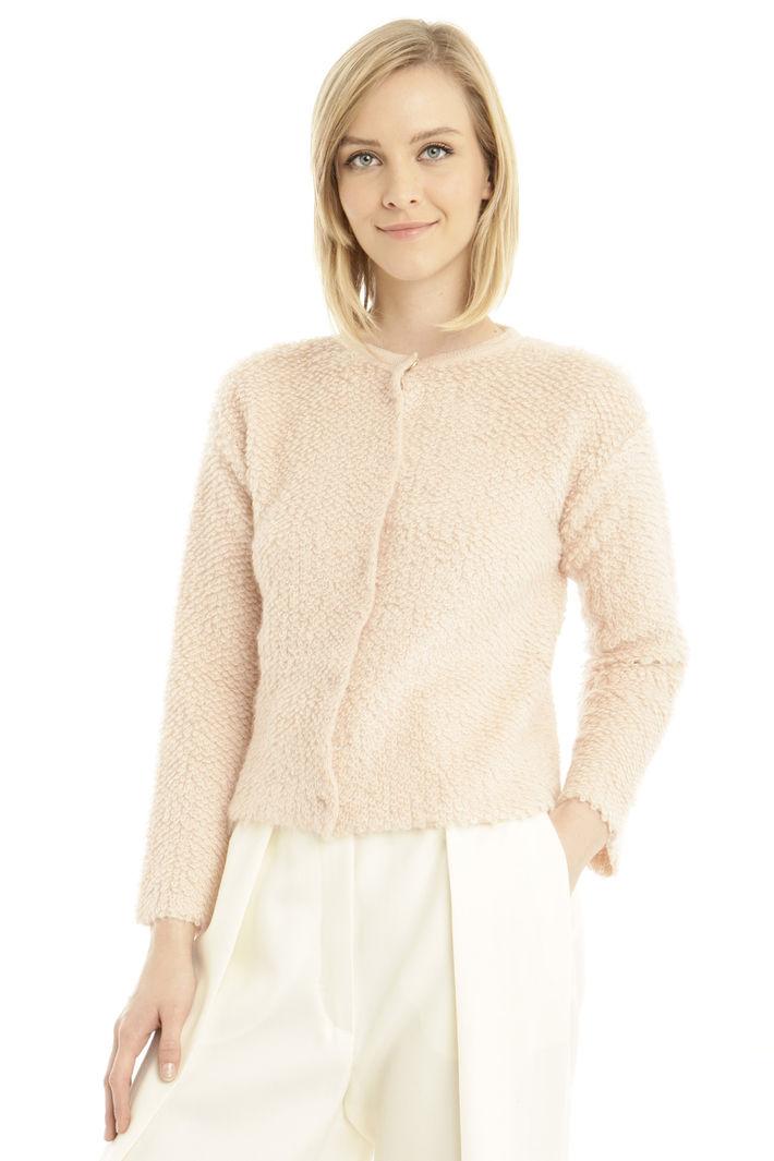 Cardigan in lana bouclè Diffusione Tessile