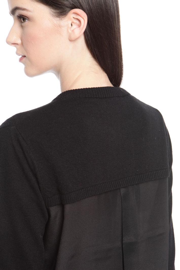 Cardigan con inserto plissè Diffusione Tessile