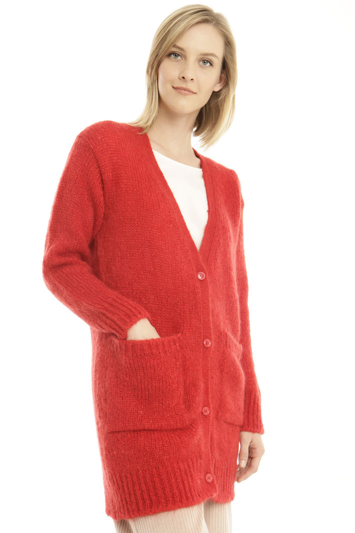 Cardigan in mohair a coste Fashion Market